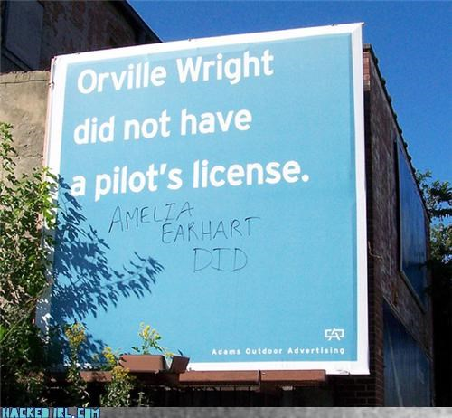 amelia eirhart billboard pilot - 4085370368