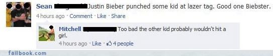 busted,drama,justin bieber,witty comebacks
