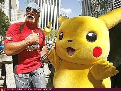 celeb Hulk Hogan pikachu Pokémon wrestling wtf - 4085488384