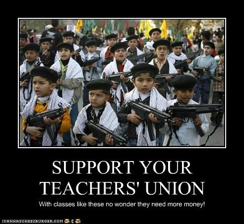 SUPPORT YOUR TEACHERS' UNION With classes like these no wonder they need more money!