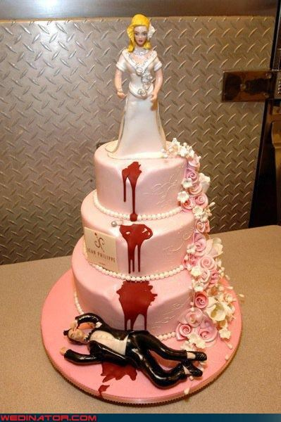bloody groom cake topper crazy bride divorce cake Crazy Brides divorce cake divorce cake topper Dreamcake eww funny wedding photos groom miscellaneous-oops technical difficulties wtf - 4086515456