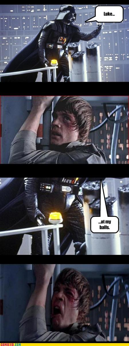 balls Bespin darth vader Empire Strikes Back From the Movies luke skywalker puns star wars - 4086522880