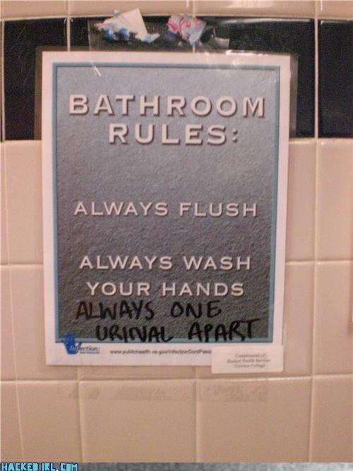 bathroom,rules