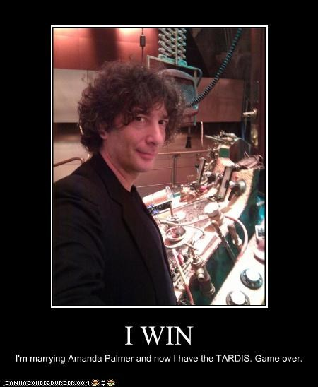 I WIN I'm marrying Amanda Palmer and now I have the TARDIS. Game over.