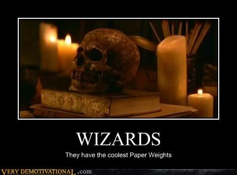 cool magic paper weights Pure Awesome skulls wizards