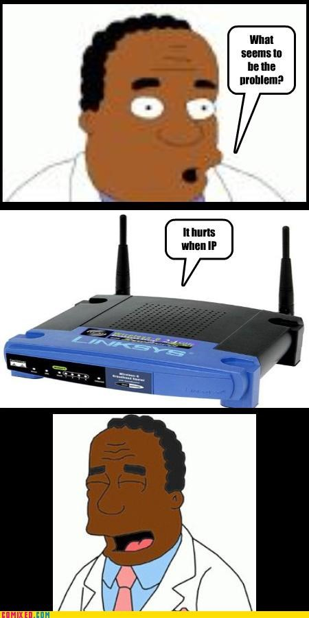 cartoons dr-hibbert internet puns routers simpsons - 4087509248
