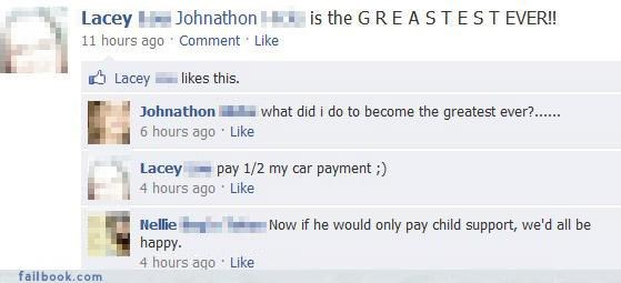 Child Support FAIL
