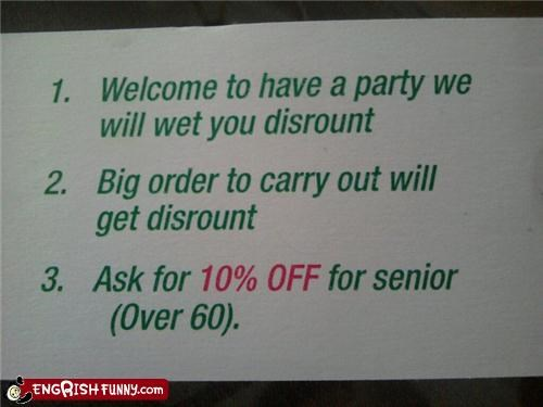 discount,engrish,Party