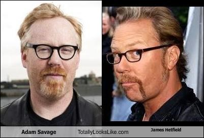 adam savage,James Hetfield,metallica,mythbusters