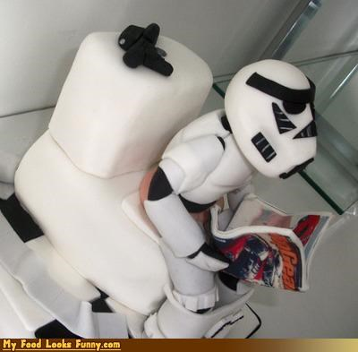 bathroom cake nerdy star wars stormtrooper toilet - 4088388864