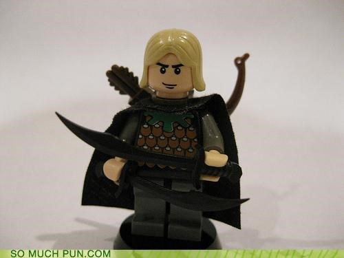 awesome block elf legolas legos Lord of the Rings quiver swords - 4088534016