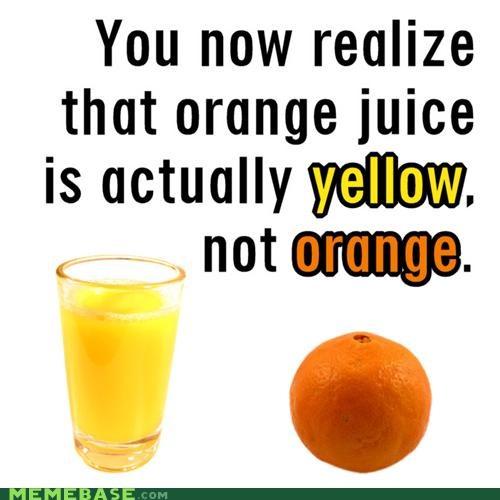 Memes mindblown orange orange juice yellow - 4088846336