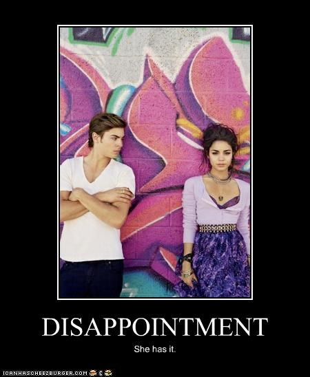 DISAPPOINTMENT She has it.