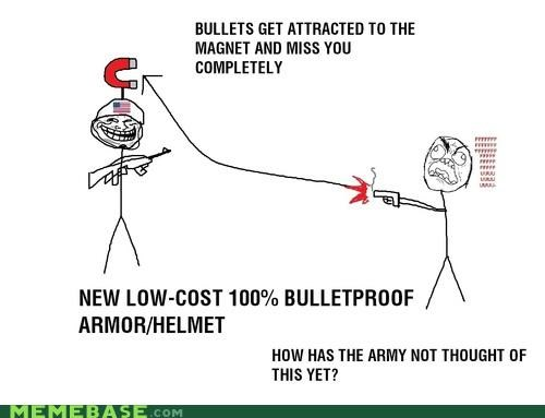 bulletproof,magnets,Memes,physics,troll,troll face,troll science