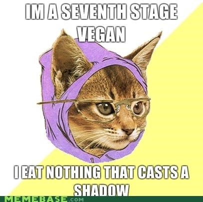 Hipster Kitty,Memes,resentment,shadow,vegan