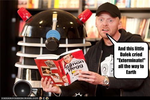 actor dalek doctor who lolz sci fi Simon Pegg - 4090158592