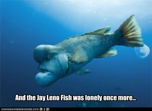 creatures critters fish jay leno lonely Movies and Telederp NBC television Tonight Show - 4090724608