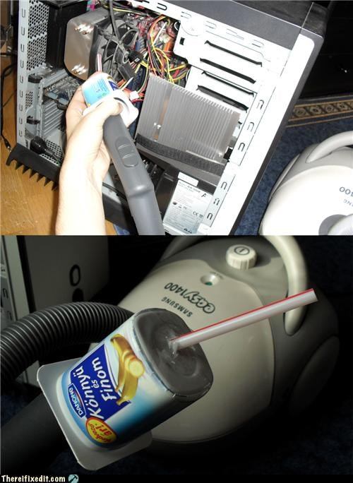 dust,pc repair,straw,vacuum