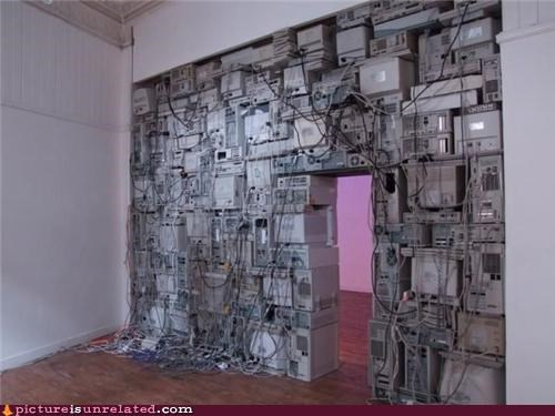 art,computers,OverKill 9000,wall,wtf