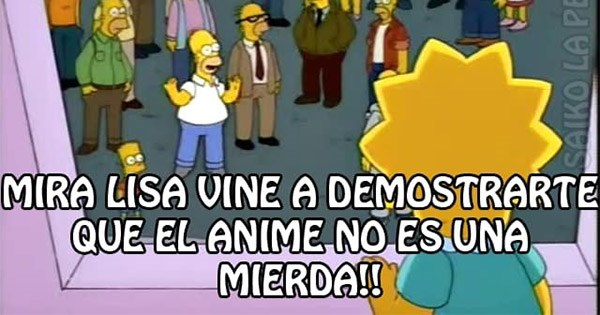 meme anime homero lisa