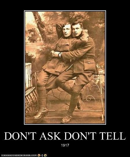 DON'T ASK DON'T TELL 1917