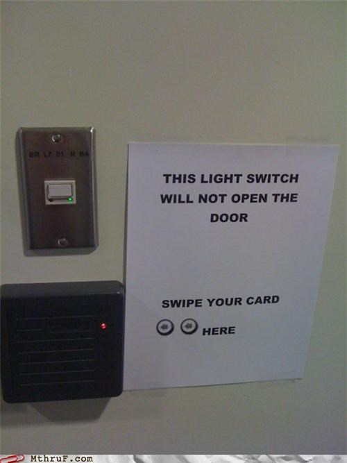 door notes Rocket Science signs switch