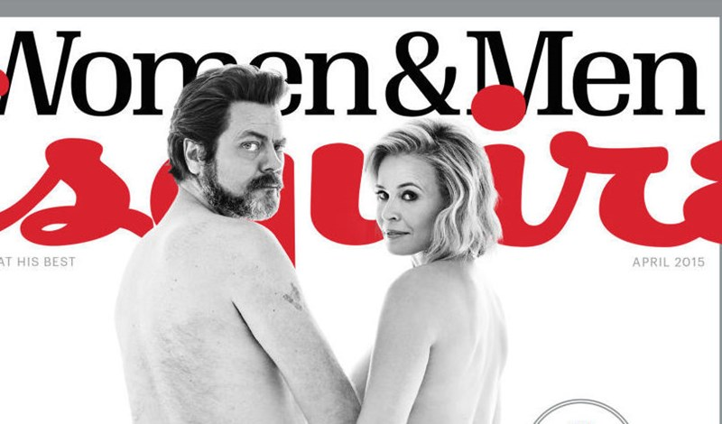 naked butts Nick Offerman chelsea handler esquire megan mullally funny NSFW - 409349