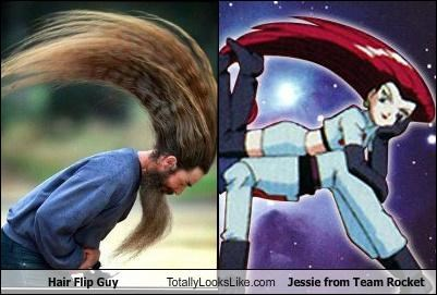 anime hair hair flip guy jessie Team Rocket
