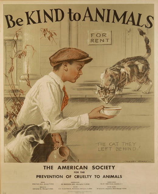vintage posters promoting being kind to animals