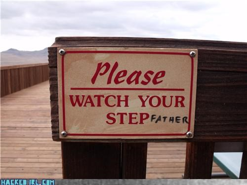 sign,step,step father