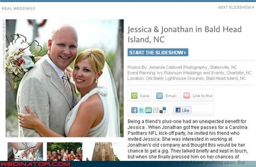 bald groom,bride,funny groom picture,funny wedding announcement,funny wedding photos,groom,ironic wedding,ironic wedding announcement,miscellaneous-oops,surprise,were-in-love,Wedding Announcement