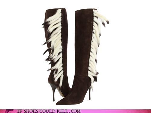 Animalia animals boots fur heels suede tails - 4097057792