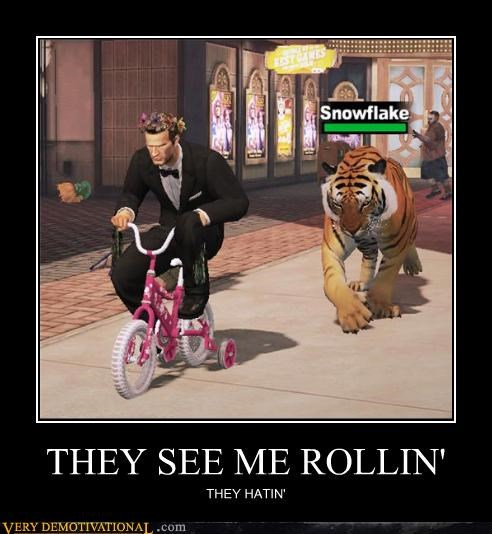 awesome,chamillionaire,Dead Rising 2,hilarious,riding dirty,snowflake,they see me rollin,tiger,Videogames