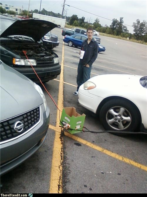 electric hazard,jumper cables,Professional At Work,safety