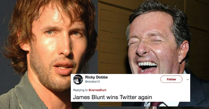 Piers Morgan gets destroyed by James Blunt on Twitter for going after Olly Murs about tweeting fake news.