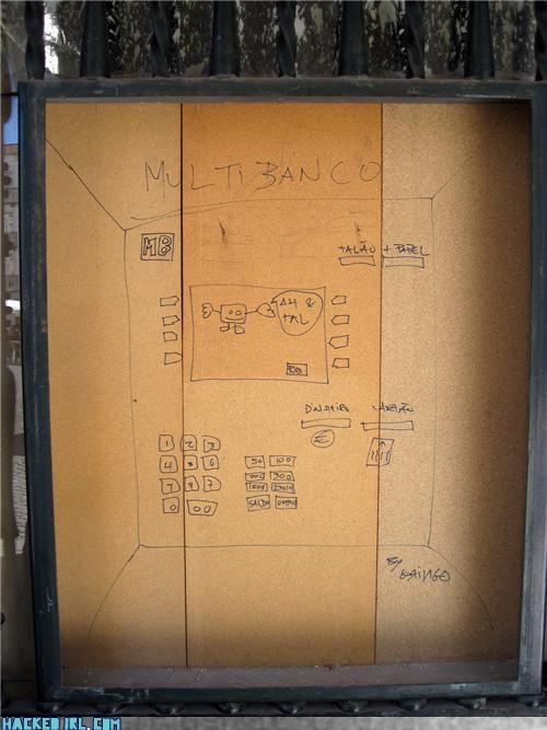 ATM,cardboard,hacked