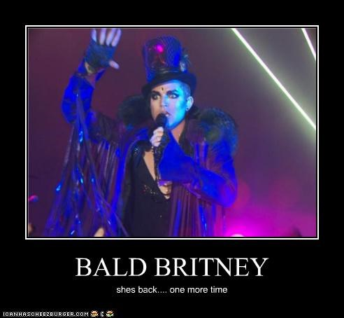 singers adam lambert bald britney spears fashion lolz - 4100906752