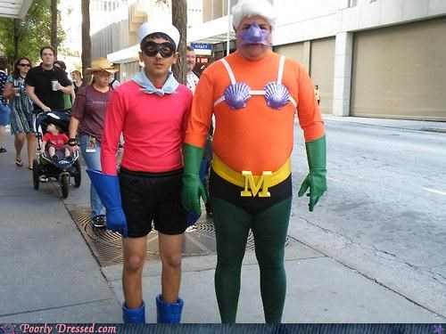 costume lame mermaid man superhero