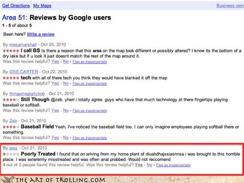Aliens area 51 google probed reviews terrible service - 4102136320