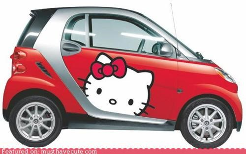car,hello kitty,smart car,stickers,world domination