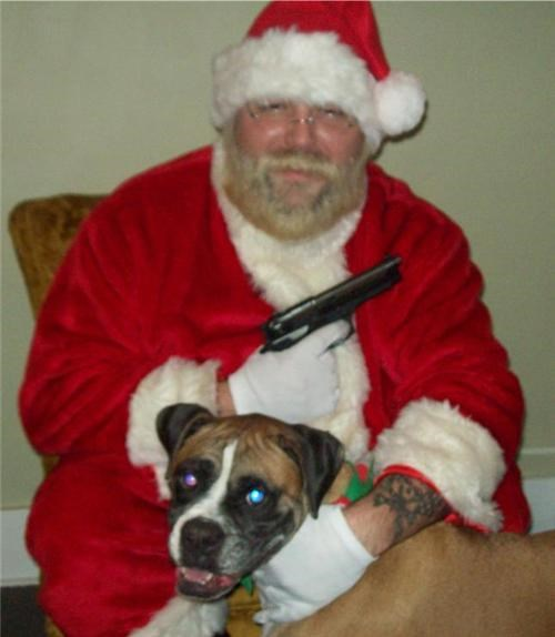 dogs gun naughty list scary - 4102522368