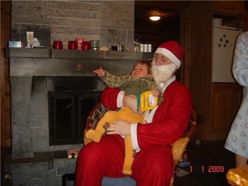fake beard,scary,throne,trying to get out of santas lap