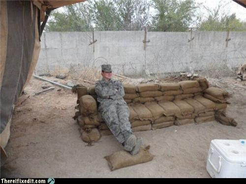 comfort,couch,military,Professional At Work,sandbags