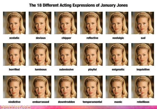 actress bad actress Extras January Jones mad men TV - 4102748416