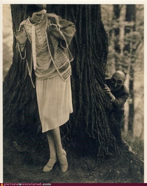 creepy,Forest,trees,vintage,wtf