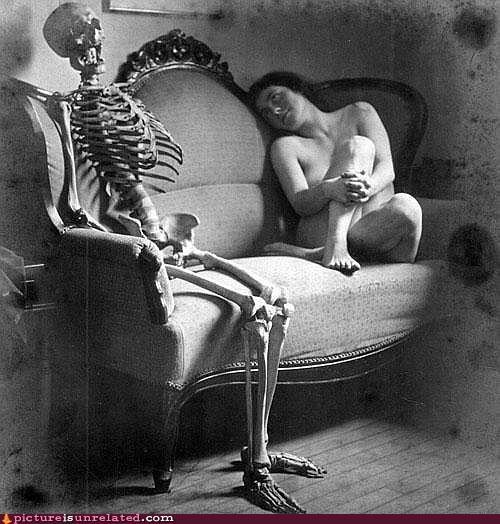 au natural babe Bonesy love skeleton vintage wtf - 4102770688
