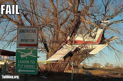 classic crash failboat flying g rated irony learn lessons planes signs