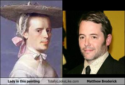 actor,lady,matthew broderick,painting