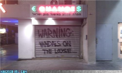 sign store vandalism - 4104547584