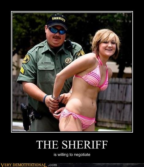 THE SHERIFF is willing to negotiate